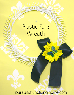 Plastic Fork Wreath