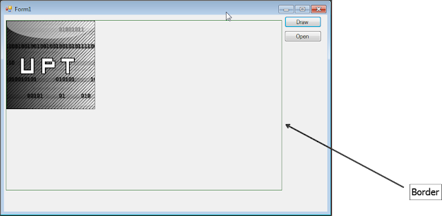 how to change border in open office