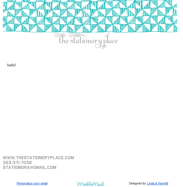 the stationery place: designer email stationery with MeebleMail