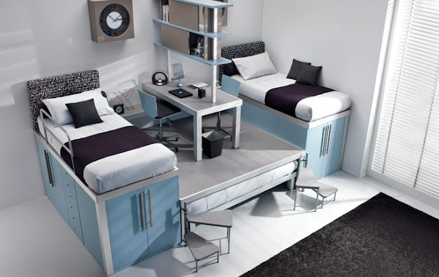 Creative-design-white-bunk-beds-for-teenagers