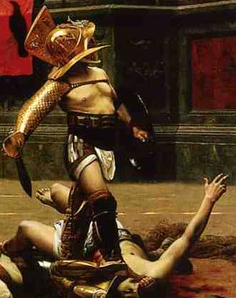 Gladiador esperando al público