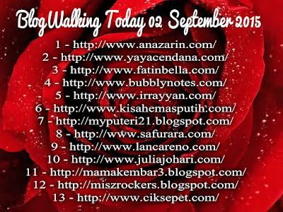 BlogWalking Untuk Hari Ini 02 September 2015