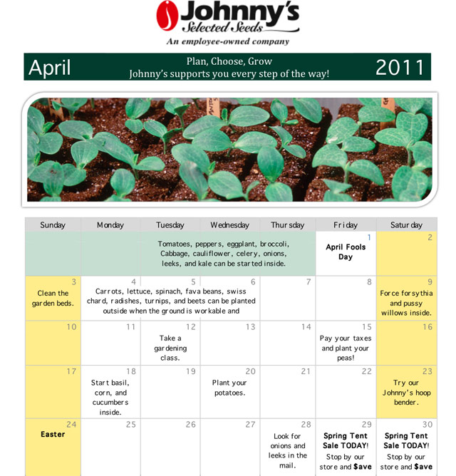 events calendar 2011. Johnny#39;s events calendar