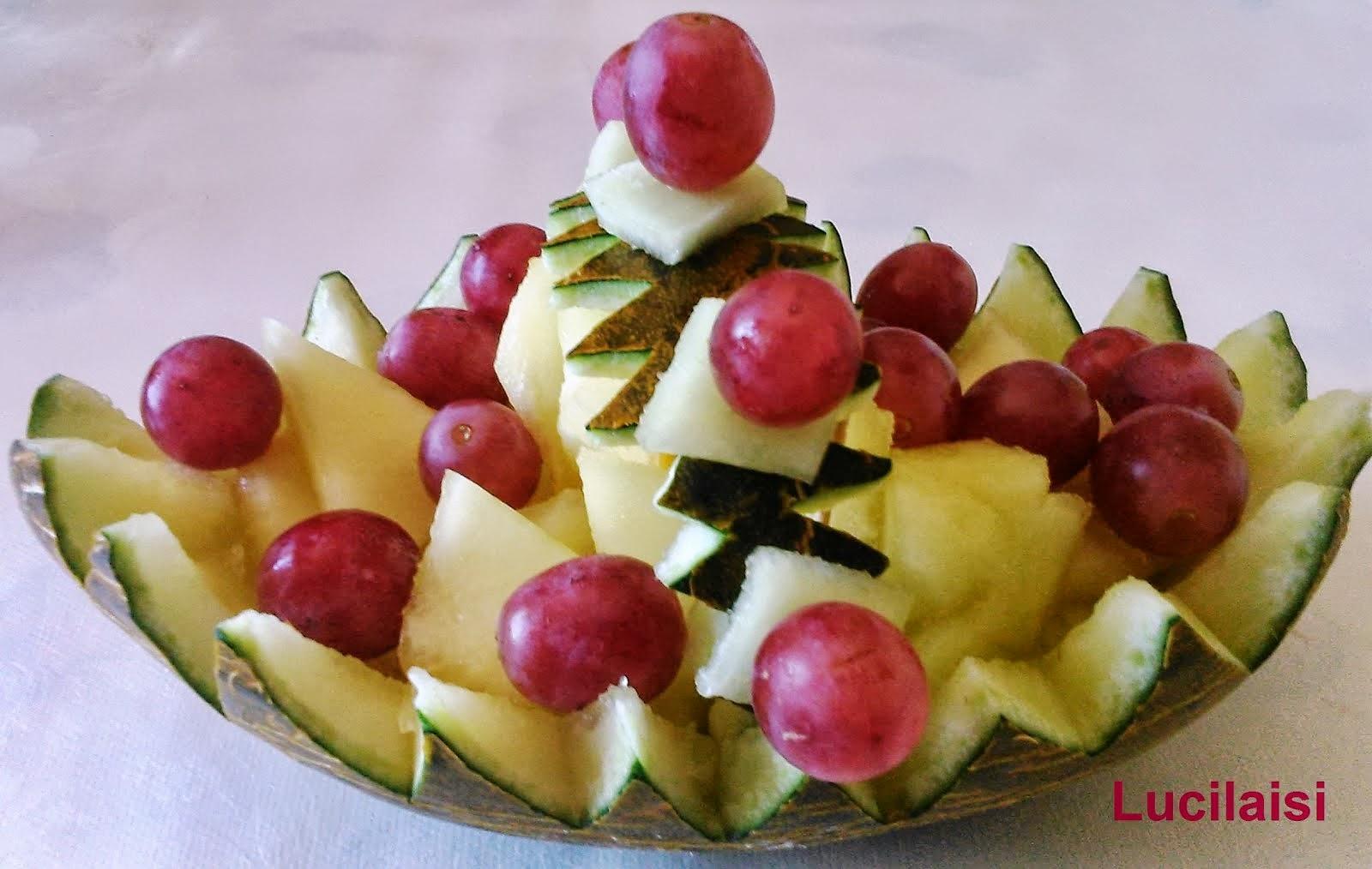LUCILAISI: Hacer figuras y adornos con fruta y verdura