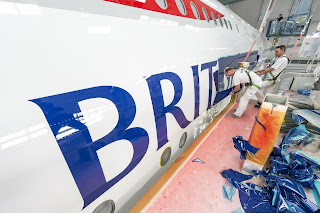 The first British Airways A380 took 14 days to paint with 24 painters