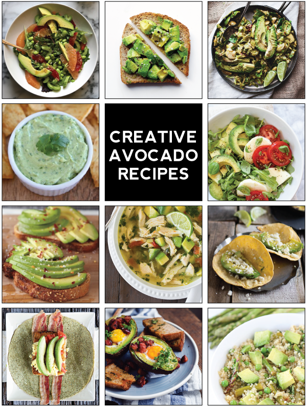 11 creative avocado recipes.