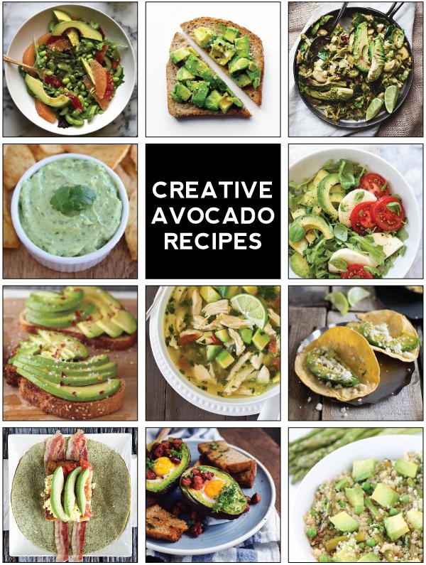 11 creative avocado recipes.