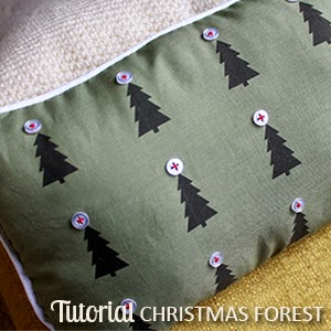 TUTORIAL: Christmas Forest Pillow | The Inspired Wren