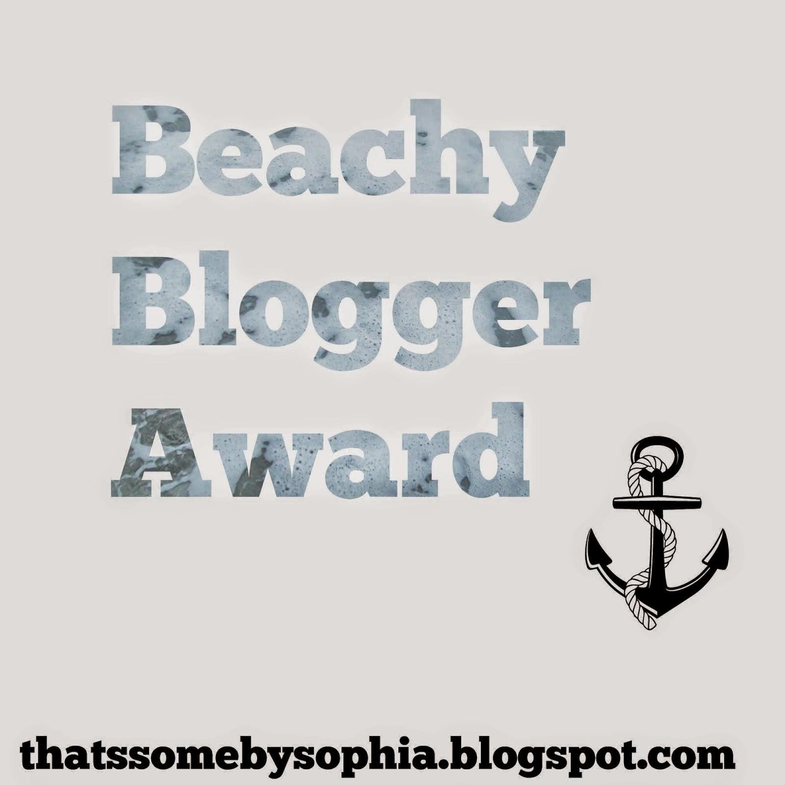 Beachy Blogger Award