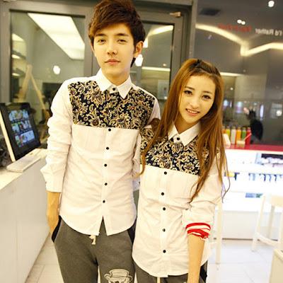 Contoh Baju Kemeja Couple Lengan Panjang Murah