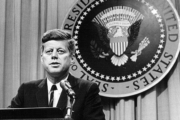 For President john f kennedy you head