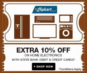Flipkart Shopping Offer: 10% Mega Discount on purchases using SBI Debit/Credit Cards