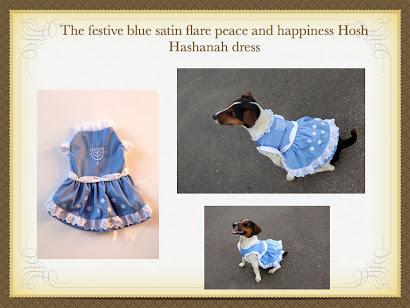 Rosh Hashanah dress by Lilly Foschino Dog Fashion