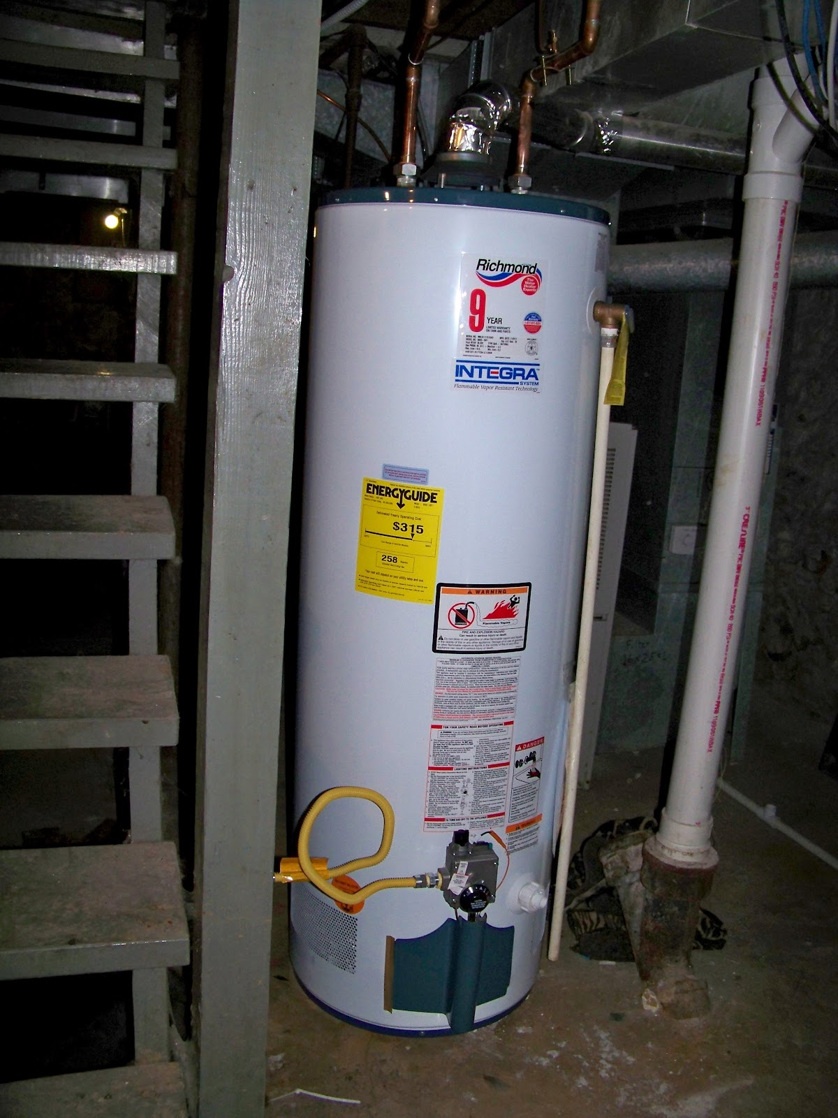 Our suburban farm goodbye water heater for Hot water heater 101