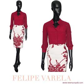 Queen Letizia Style FELİPE VARELA Dress