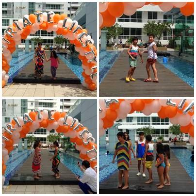 5 little angels summer splash pool party for Splash pool show quebec