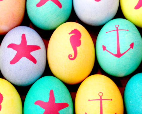 nautical Easter eggs