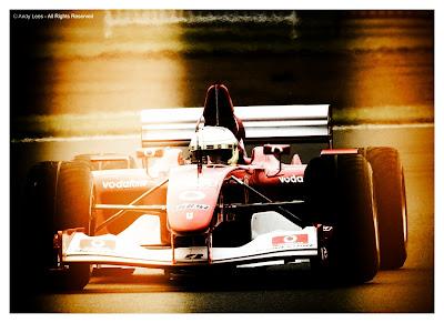 Luca Badoer in his Ferrari at Silverstone
