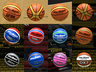 NBA 2K13 Molten Ball Mod Patch Pack
