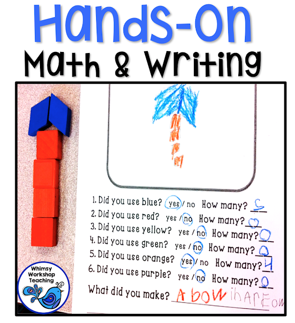 Use the materials that students LOVE to integrate writing and math with this FREE no prep activity
