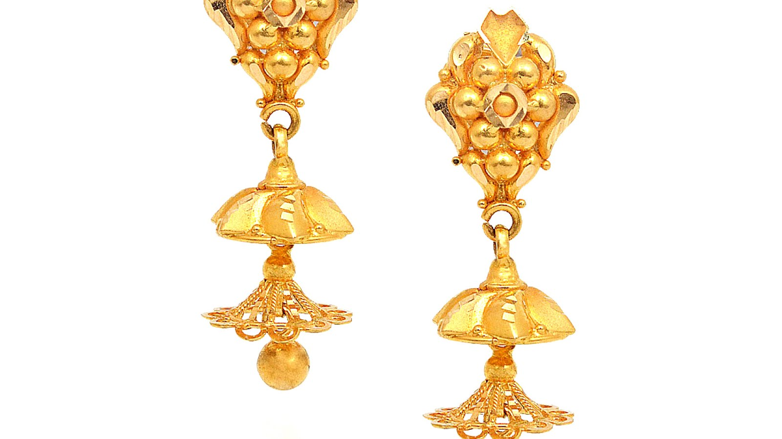 Gold Jhumka Earrings Design With Price