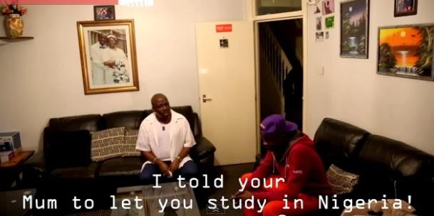 nigerian boy fools his dad