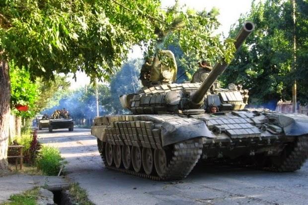 танки России на территории Украины