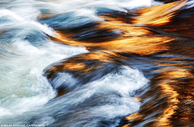 Stunning River Waves in Yosemite Park
