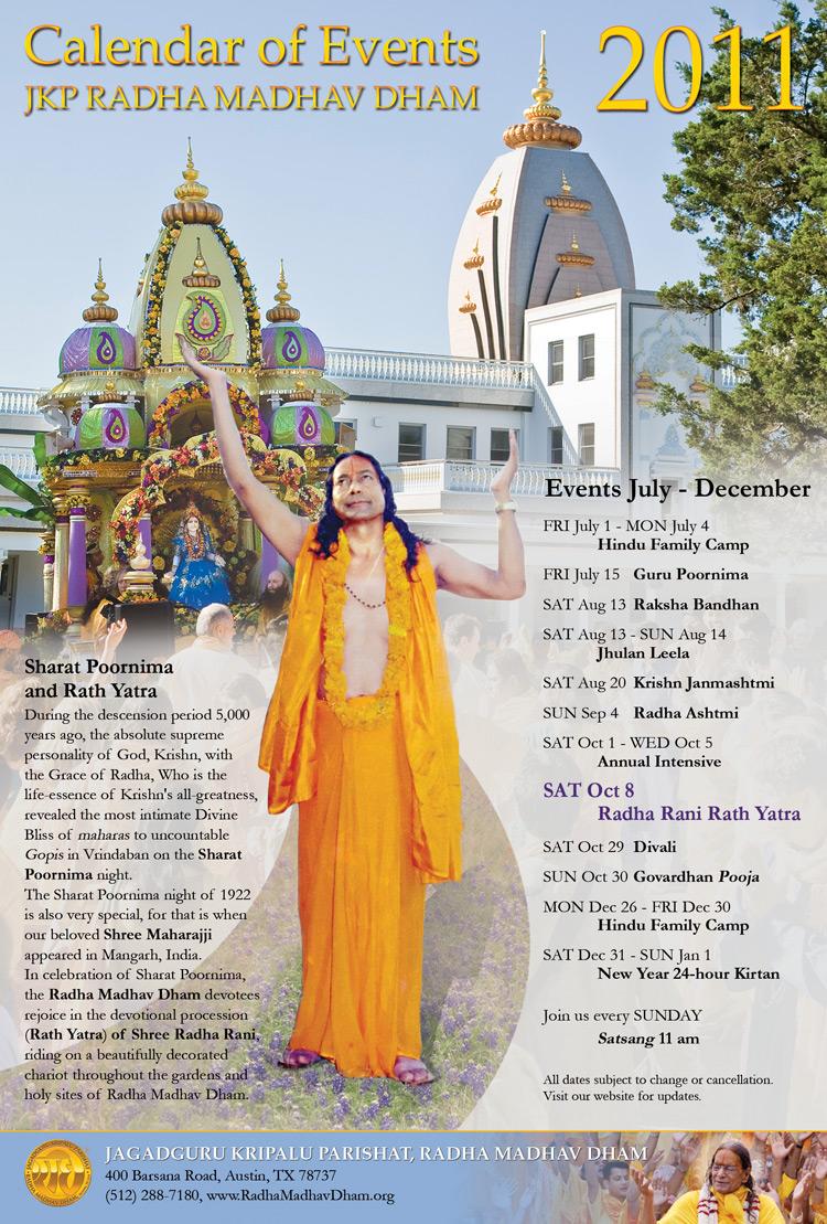 Festivals of Radha Madhav Dham, the US ashram of Jagadguru Kripaluji Maharaj