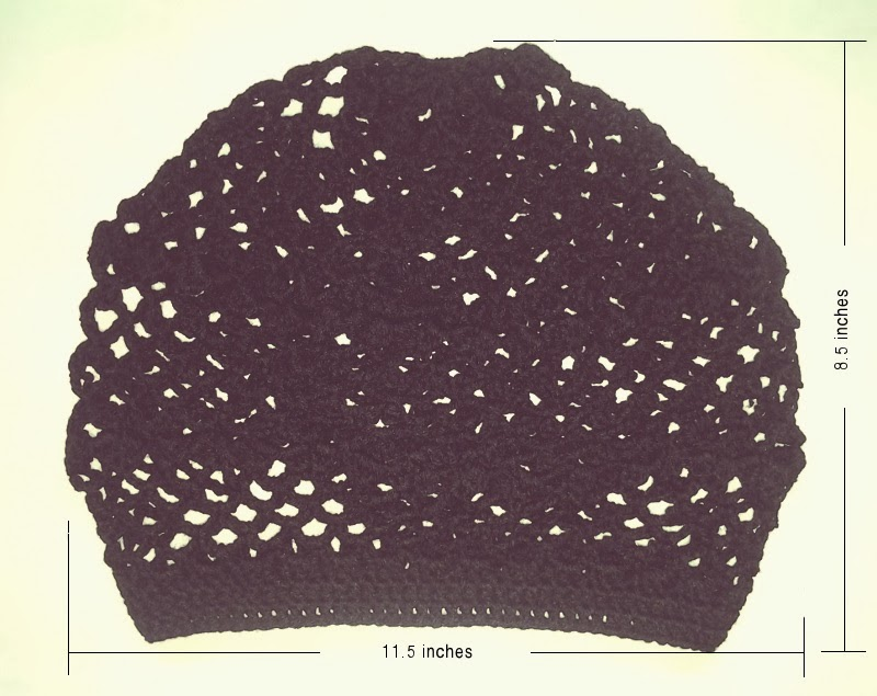 crochet pattern: lace beret measurements