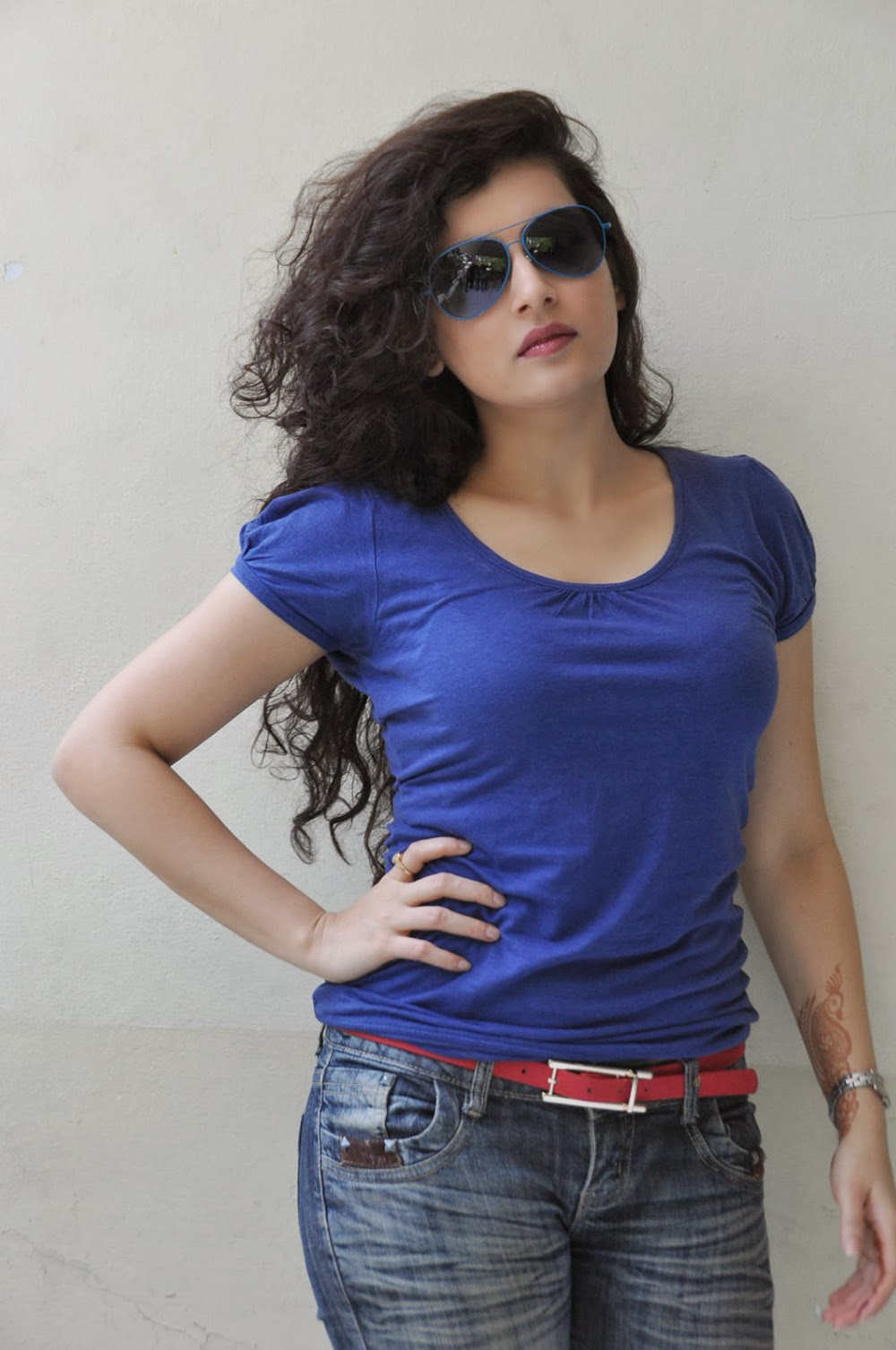 Archana photos in blue top-HQ-Photo-7