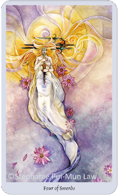 Shadowscapes Tarot, Four of Swords, Stephanie Pui-Mun Law