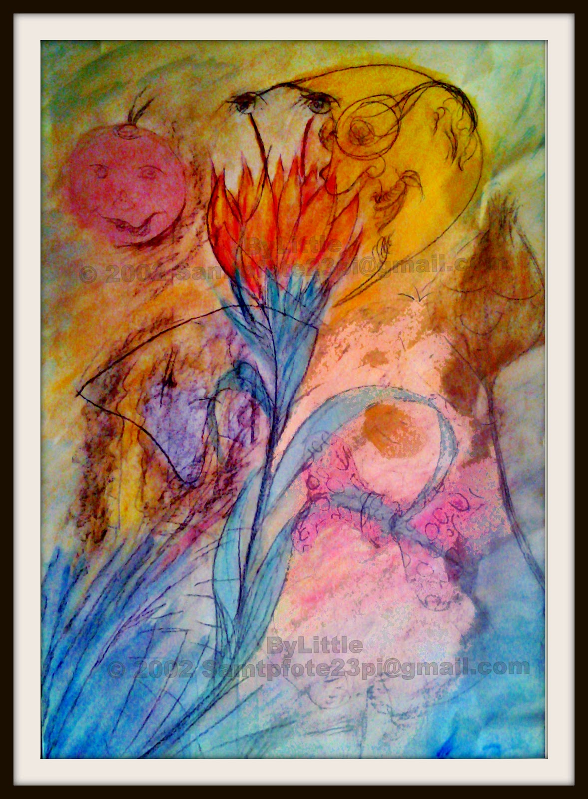 Bild By Little, Aquarell auf Papier, © 2002 Samtpfote23pi@gmail.com
