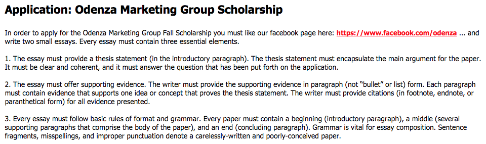 Concluding paragraph example for a scholarship essay