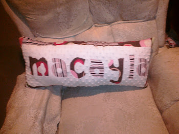 """macayla"" applique pillow"