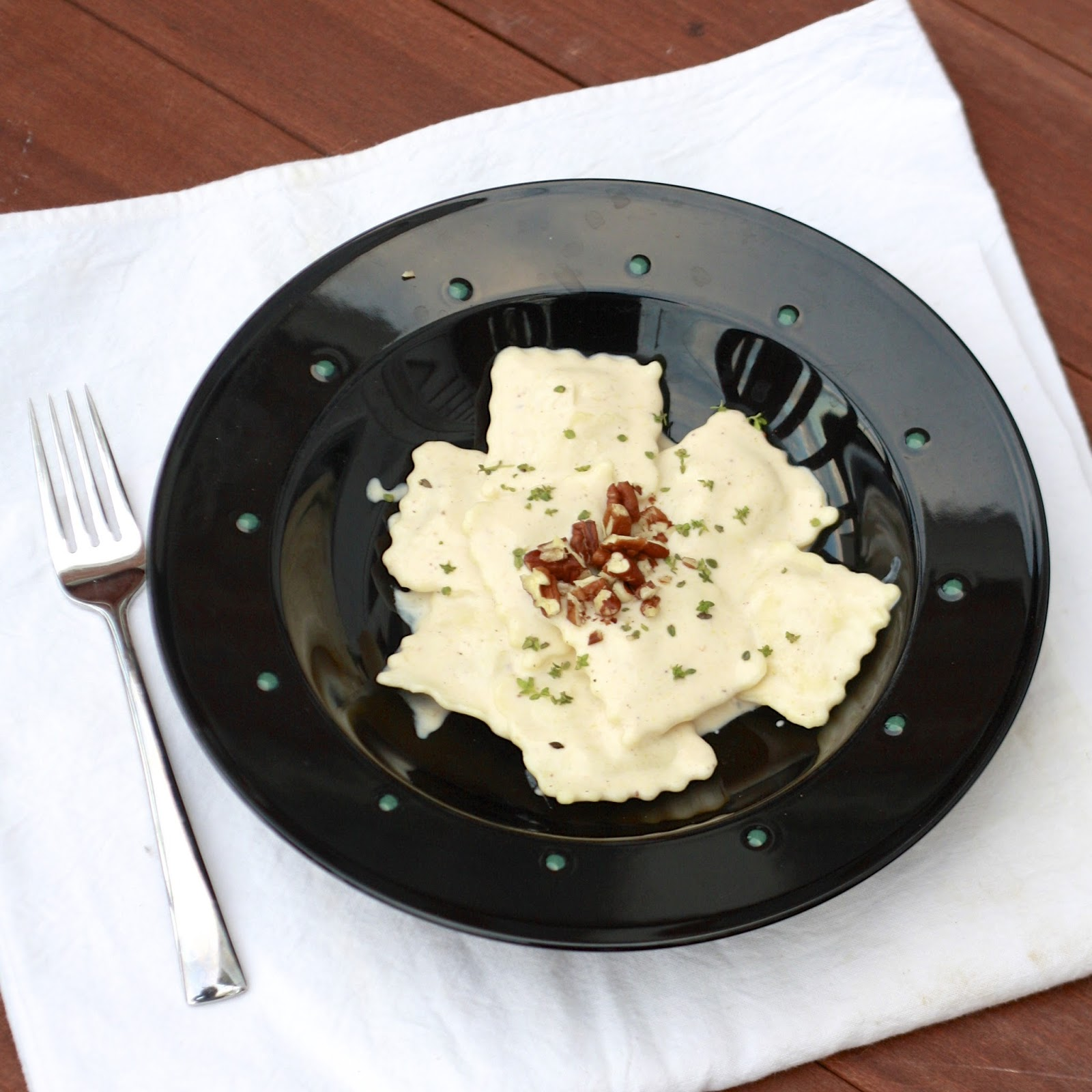 Ravioli with Pumpkin Yogurt Sauce | The Sweets Life