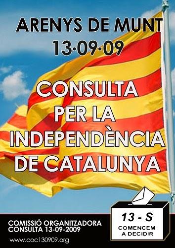 Arenys de Munt: consulta per la independència de Catalunya