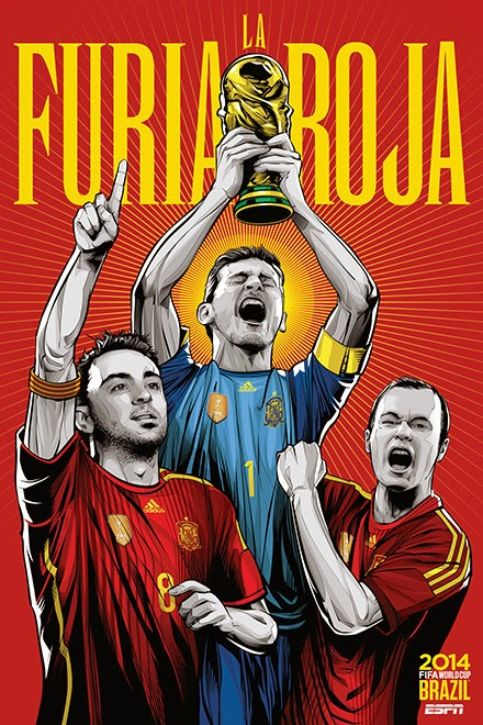 Poster keren world cup 2014 - Spanyol