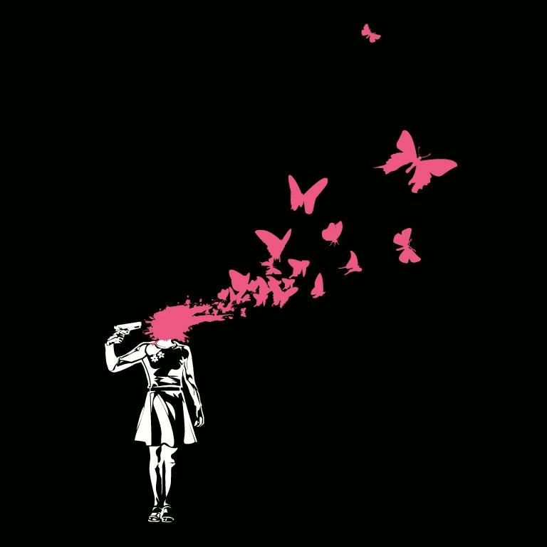 Sommerfugle fra hovedet