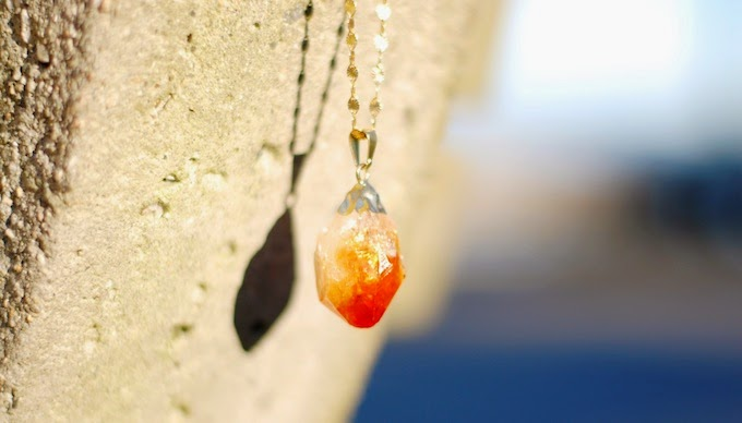 Citrine drop necklace Dear You, Pretty Things Vancouver