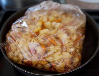 Картошка в рукаве для запекания
