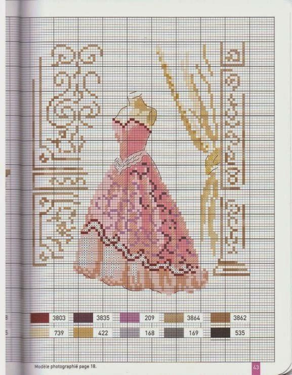 Схемы вышивка на платье