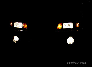 1987 Mustang 5.0 One-Piece Headlights at Night