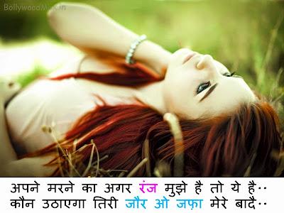 Kaun uthae ga teri jaur - Love Shayari-Hindi