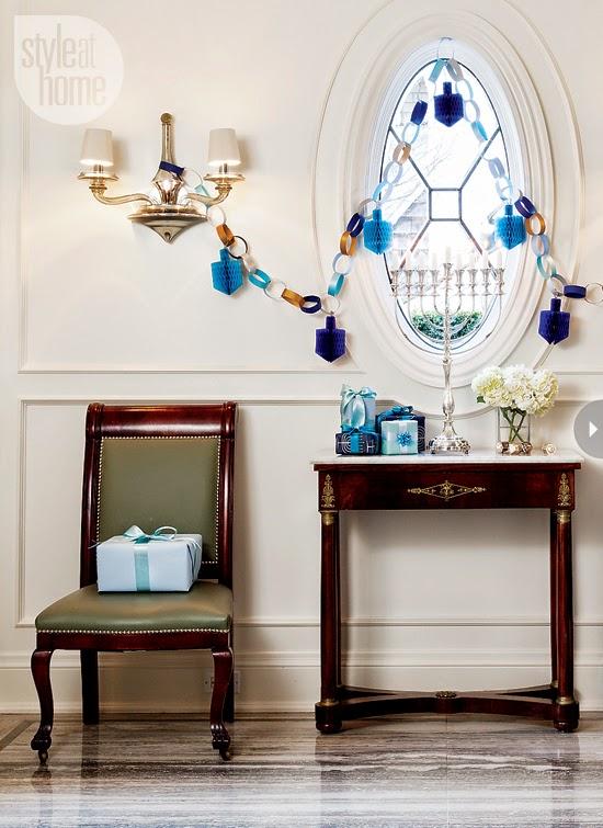 The zhush celebrating the festival of lights for Hanukkah home decorations