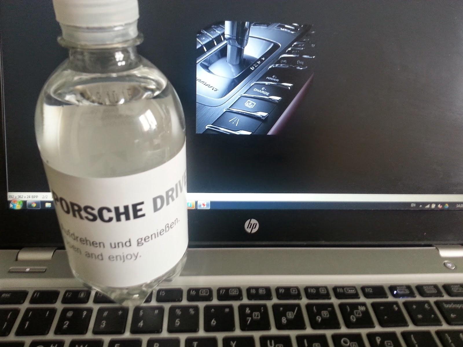 Porsche mineral water
