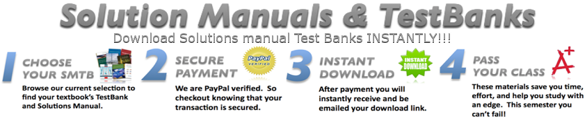 Solutions Manual and Test Bank Zone