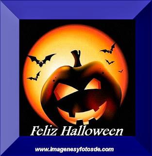 Feliz Halloween con Calabaza y Murcielagos