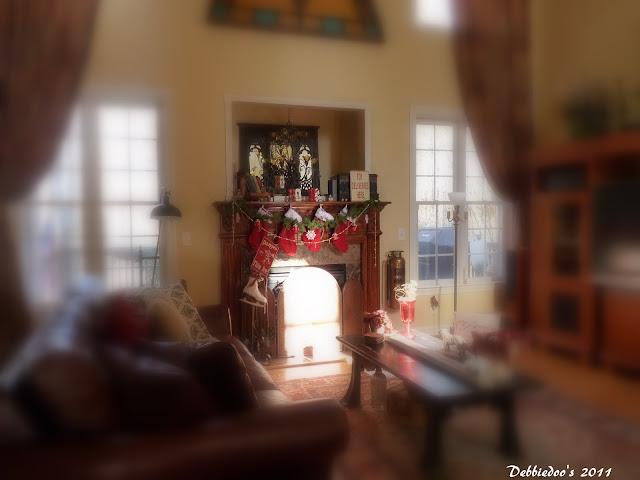 P1130382 Christmas mantel {rustic, whimsy}
