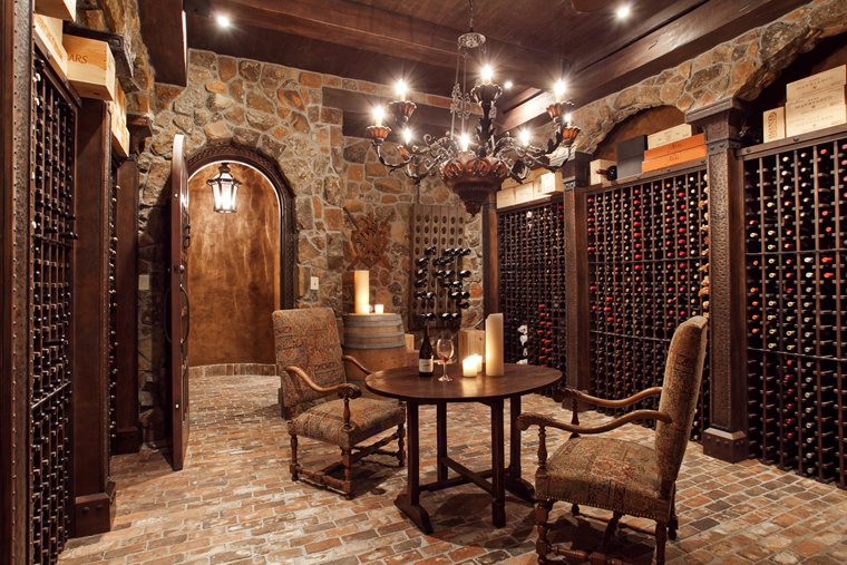 Our french inspired home old world rustic wine cellars - Home wine room ...